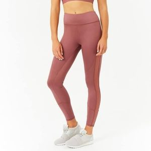 NWT Forever 21 Rose Mesh Panel Workout Legging XS